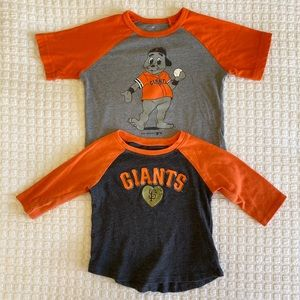 Toddler Giants Baseball T-Shirts | 3T & 2T